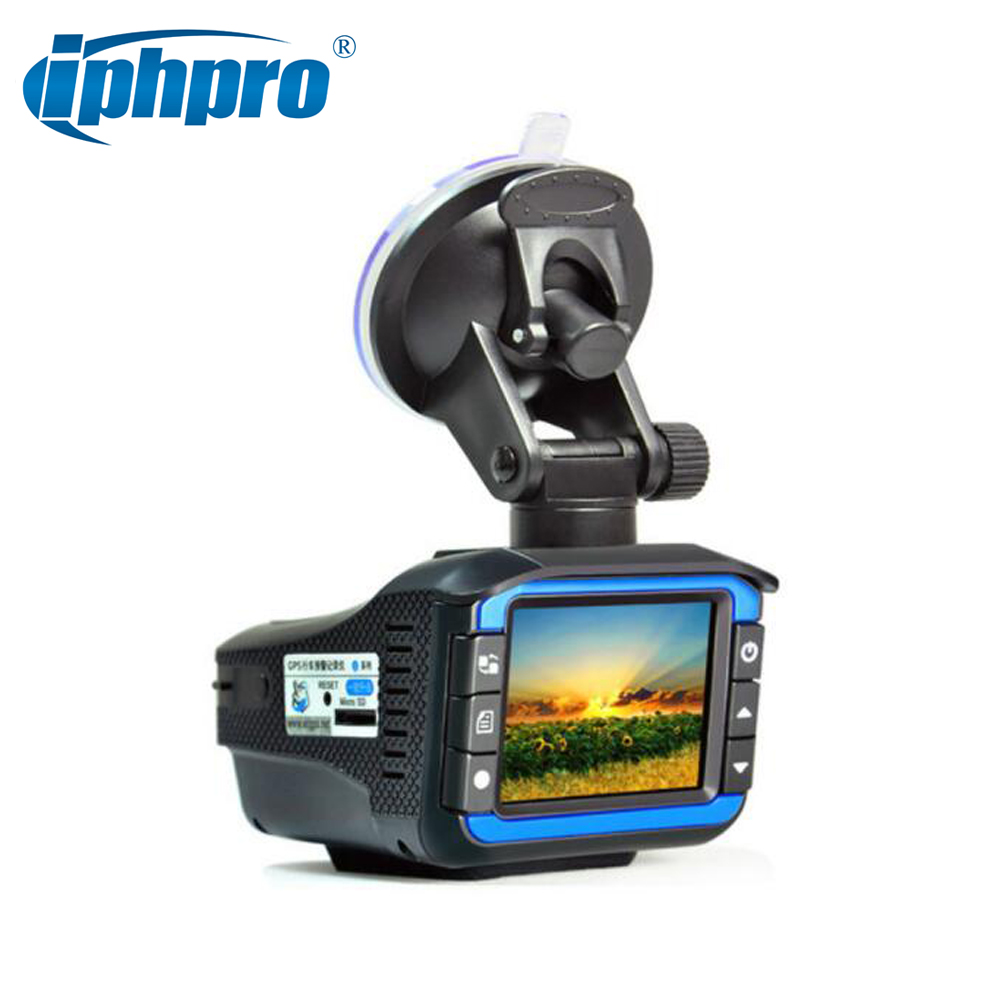 New car dvr radar detector 3 in 1 Russian Voice 720P HD Dash Cam GPS Positioning Fixed and flow velocity detect