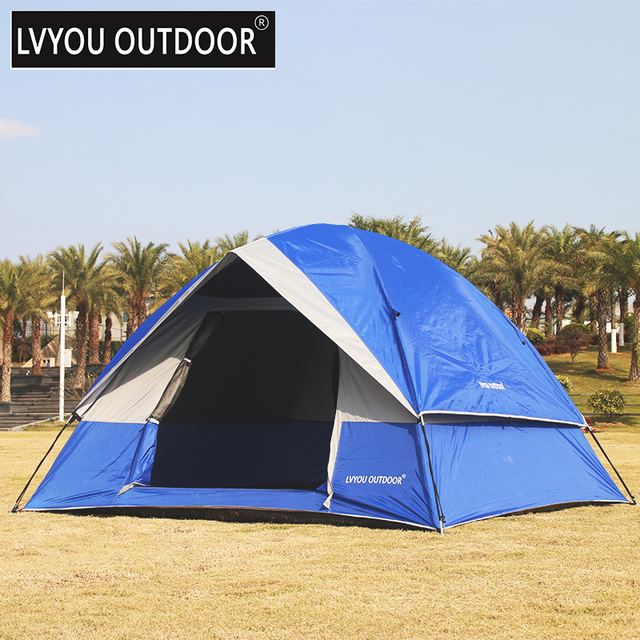 LVYOU OUTDOOR 4 Person Dome Tent Outside Cmping tent  Cmping and Hiking 3- & LVYOU OUTDOOR 4 Person Dome Tent Outside Cmping tent  Cmping and ...