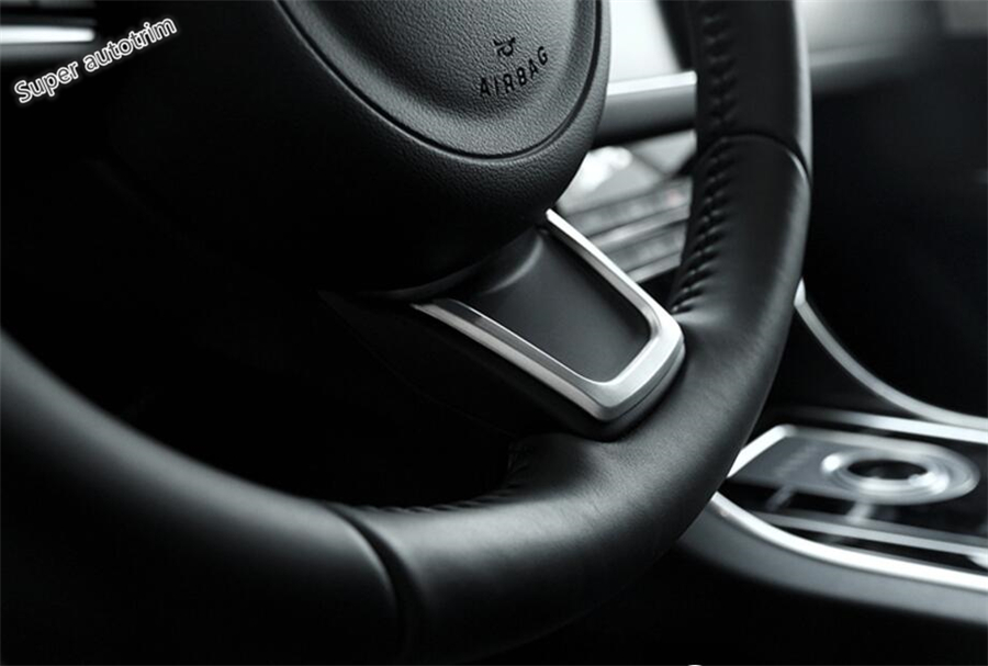 Lapetus Accessories Interior Steering Wheel Decoration Strip Cover Trim Matte Style ABS Fit For Jaguar E-pace E pace 2018 2019