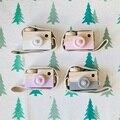 Adorável Bonito Câmera Brinquedos Para As Crianças Do Bebê De Madeira Sala de Decoração Artigos de decoração Presentes de Aniversário Do Natal da Criança Estilo Europeu Nórdico