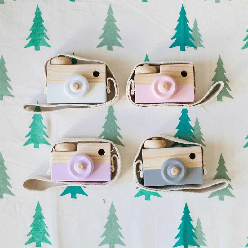 Lovely Cute Wooden Camera Toys For Baby s
