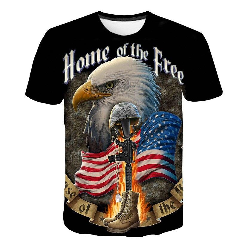 New American Eagle Printed 3D T-shirt Men USA Banner Short Sleeve Shirt Hip Hop Men Women Eagle T Shirt Dropship Tee Shirt Homme