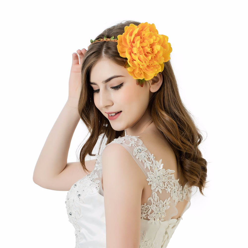 Flower Boho Floral Headband Garland Festival Wedding Bridal Hairband Ornate