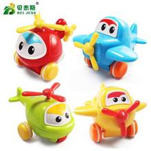BEI JESS 1 Pcs Pull Back Helicopter Mini  Diecasts model Action Figure Baby Funny Toy for Boys Random Color