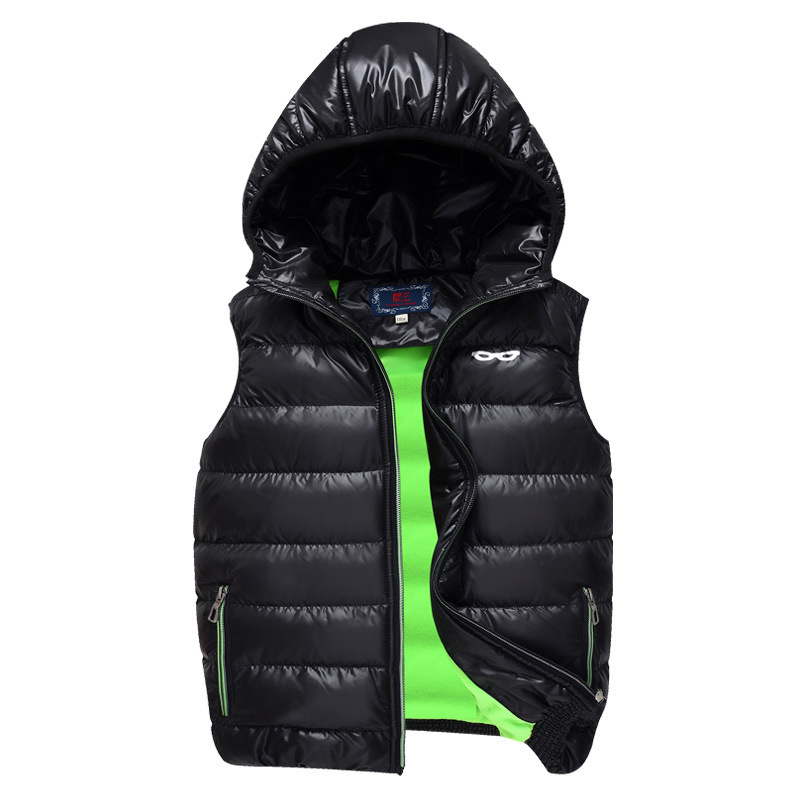 New Winter Children Vest Hooded Boys And Girls Waistcoat Fleece Thick Warm Kids Clothing Vest Outerwear DQ127