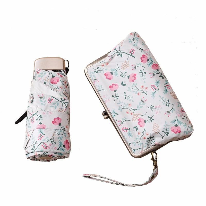 Mini Paraguas de lluvia para Mujer, Sombrilla portátil para Mujer, Sombrilla Plegable, Paraguas para Mujer, Paraguas para la lluvia para Mujer