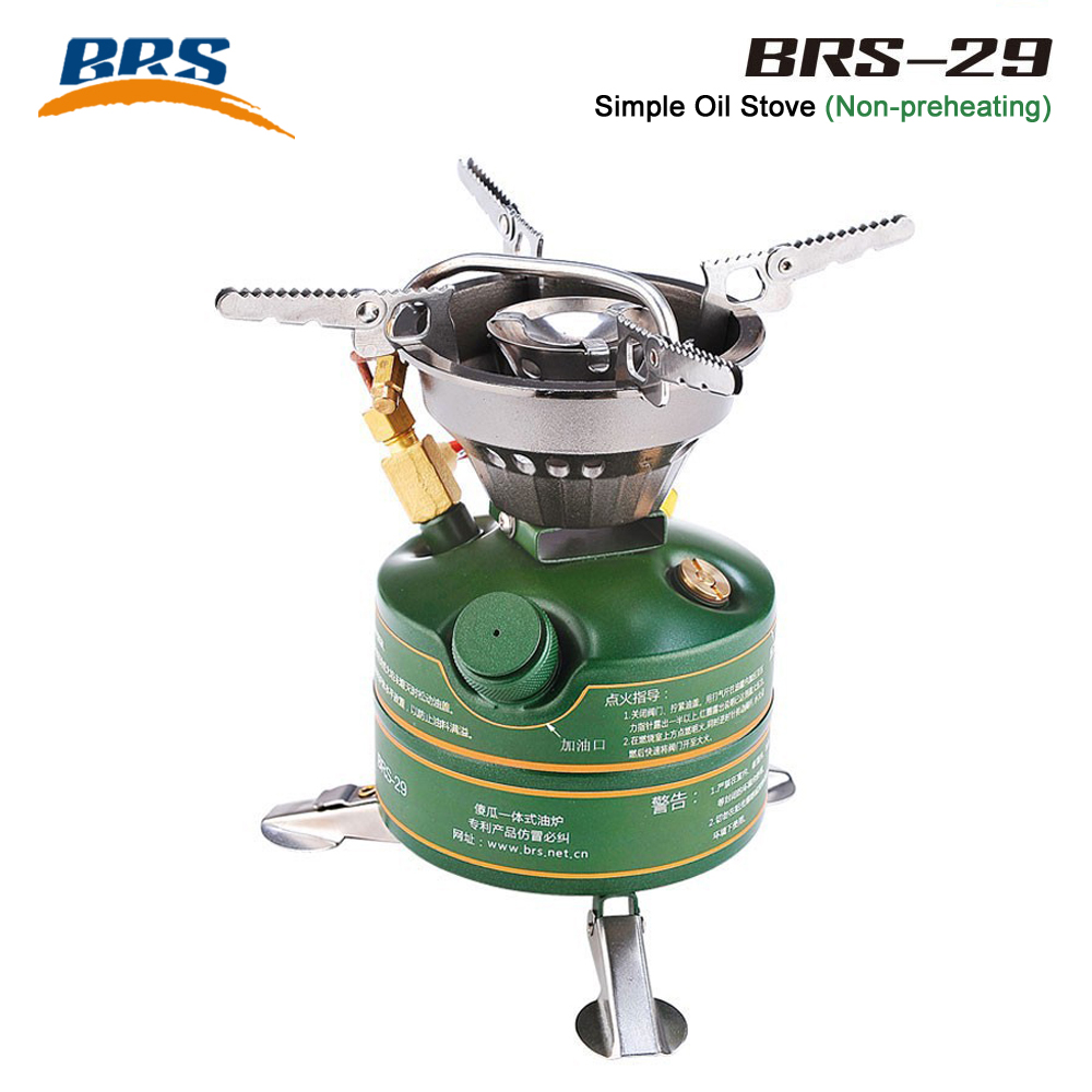 BRS Gasoline Stove outdoor kocher Camp Cooking equipment Portable Oil Stove NonPreheat Oil Burning Boiler backpack Cooker burner brs titan oil stove cooking food cooker camping oil furnace outdoor cookware brs 7
