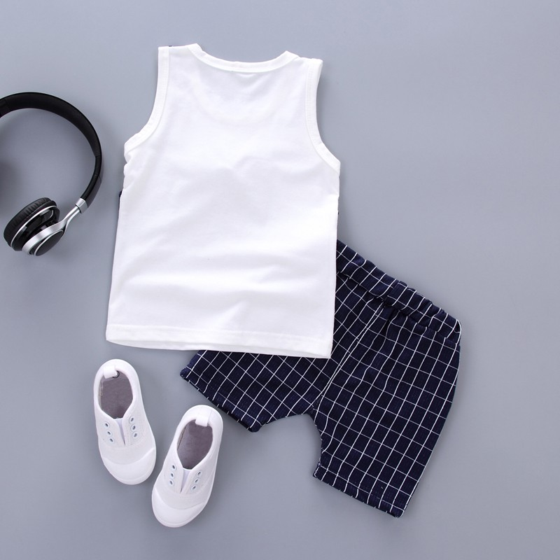 2018 Summer Fashion Clothing Set Boys Handsome Gentleman Suits Clothing Set Cotton Children Clothing