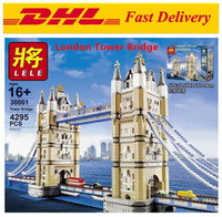 LEPIN 17004 4295Pcs Creator Expert London Tower Bridge Model Building Kits Blocks Bricks Fun ToysGifts Compatible