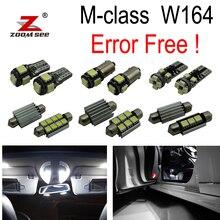 18 шт. Canbus светодиодный ног лампа + интерьера карта свет комплект для Mercedes M class W164 ML320 ML350 ML420 ML450 ML63 AMG (2006-2011)