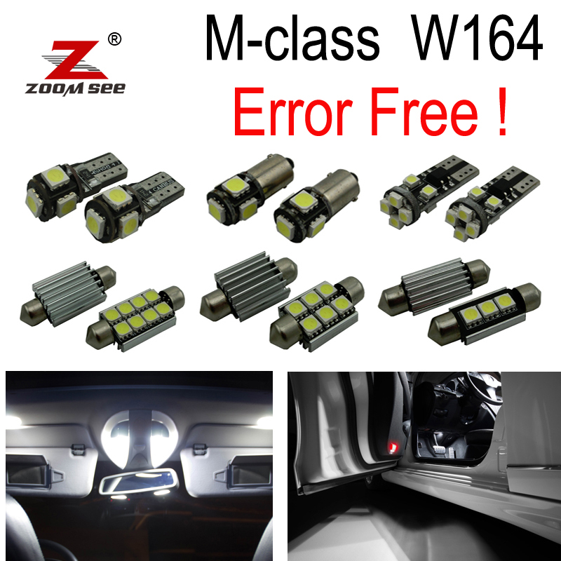 18pc Canbus LED lamp Interior map Light Kit Package for Mercedes M class W164 ML320 ML350 ML420 ML450 ML63 AMG (2006-2011) 10pcs error free led lamp interior light kit for mercedes for mercedes benz m class w163 ml320 ml350 ml430 ml500 ml55 amg 98 05