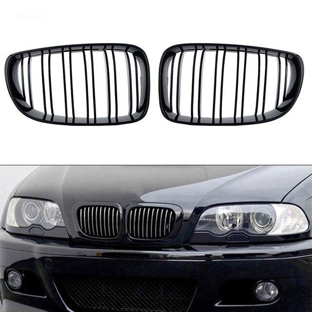 2 pièces Carbone Noir Mat Avant Rein Gril Pour BMW E85 E86 Z4 2003-2008 Coupé cabriolet Voiture Pare-chocs Calandre C/5