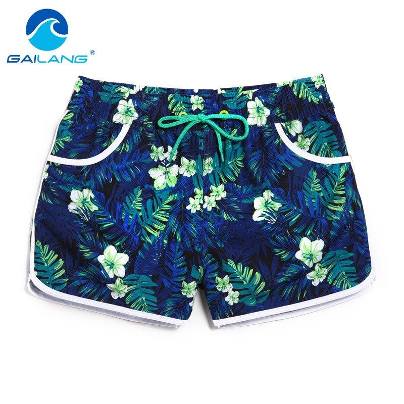 Gailang Merek Wanita Kasual Celana Pendek Papan Trunks Shorts wanita baru Boxer Shorts Swimwear Baju Renang Ukuran Besar XXXL