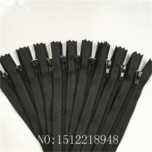 50pcs (8 Inch) 20cm Black Nylon Coil Zippers Tailor Sewer Craft Crafter's &FGDQRS #3 close End