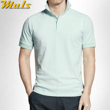 High quality Men polo shirts quick dry pure cotton short polos men top tees pink gray red S-3XL Muls male brand clothing MS16047(China)