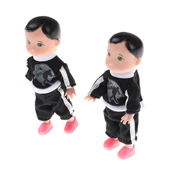 1 pc For 10Cm Boy Son Dolls For Baby Boy Son Dolls Black or white Random Color Super Small Toys 1
