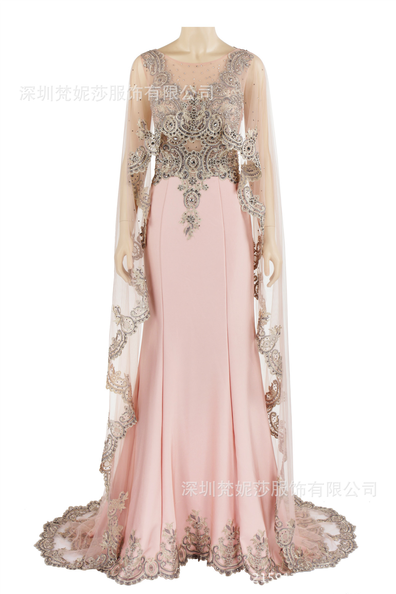 Muslim   Evening     Dresses   Long Sleeves 2019 Lace Appliques Beaded Saudi Arabic Formal Party Gowns abiye gece elbisesi
