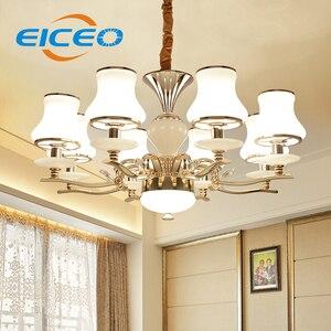 (EICEO) Европейский стиль кристалл droplight контрактный гостиная лампы ресторан освещение гостиная подвесной светильник для спальни