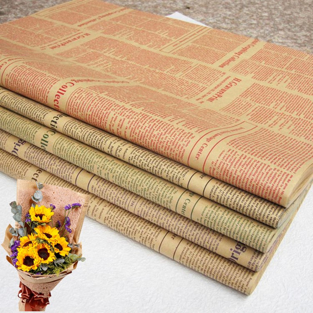 Famous 20pcs/lot 60*60cm Newspaper Decoration Wrapping Paper Wrap Gift  VQ68