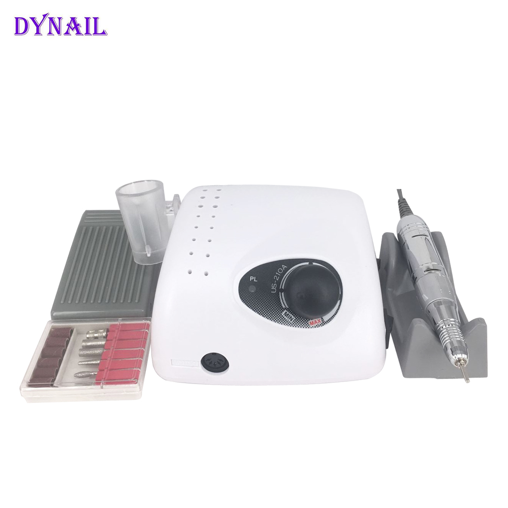 Free shipping Strong 210A Nail Drill Machine 35000RPM Electric Manicure Pedicure set Nail File Bit Nail Art Equipment free shipping drop shipping electric manicure pedicure nail drill