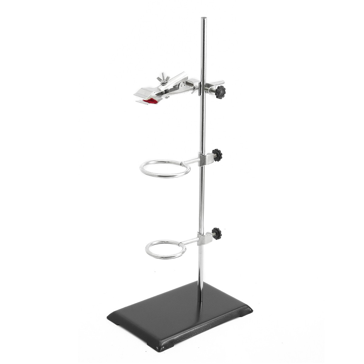 Kicute New 1 Set Laboratory Stands Retort Stands Support Clamp Flask Lab Stand Set Holder Laboratory School Education Supply 1 set 50cm high retort stand iron stand with clamp clip laboratory ring stand educational equipment school education supplies