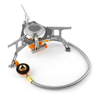 AOTU Portable Outdoor Folding Gas Stove Camping Equipment Hiking Picnic 3500W Igniter Camping Gas Stove