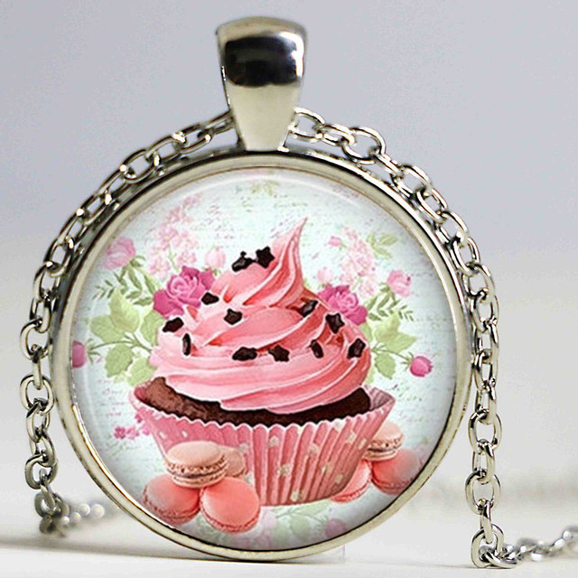 Handmade jewelry vintage victorian cupcake necklaces pendants in handmade jewelry vintage victorian cupcake necklaces pendants aloadofball Images