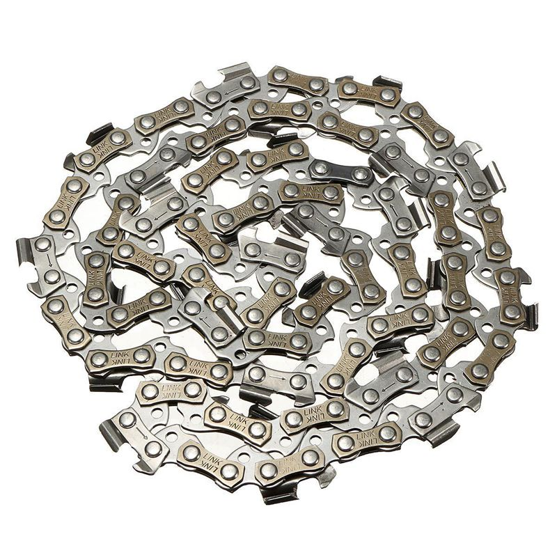 LIXF 14 inch Chainsaw Chain Blade Wood Cutting Chainsaw Parts 52 Drive Links 3/8 Pitch Chainsaw Saw Mill Chain 2 pcs gear sprockets drive replacement chainsaw chain drive sprocket 221514 8 for makita 5016b 5012b electric chain saw