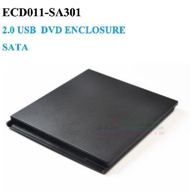 Slot para USB 2.0 SATA gabinete dvd externo 9.5mm Laptop Notebook CD Caddy Nenhum Driver ECD011-SA301