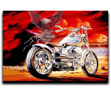 5D DIY Painting Diamond Cross Stitch Embroidery Drill Square Full 3D Mosaic Decoration Fabric Motorcycle