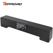 Toproad Touch Bluetooth Speaker Layar LCD Nirkabel Soundbar Subwoofer Stereo Speaker Mendukung Jam Alarm Handsfree Fm Radio TF(China)