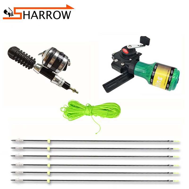 Archery Hunting Fishing Set Arrows Fish Reel Base 3.7inch Solid Stabilizer ADS Fish Shooting Device With Lines For Fishing Bow