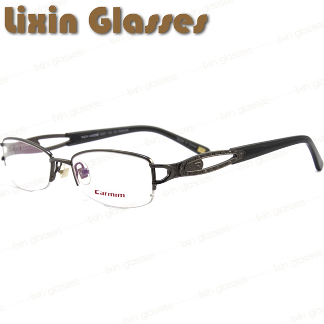 Gun Color Frame With Decoration On The Leg For Women Fashion Glasses Frames RM00465