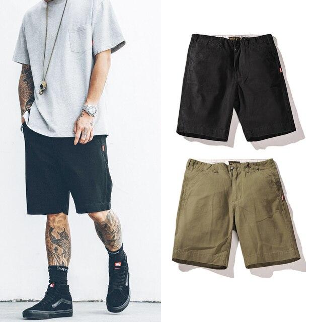 d0961ab01d 2017 Venda Quente chegar homens verão bermudas Cargo moda Na Altura Do  Joelho comprimento shorts hip