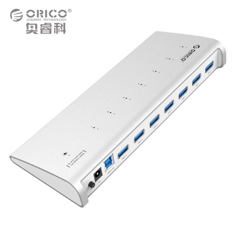 ORICO ORICO H73-SV 7 Port Aluminum 5Gps USB3.0 Hub with 12V 2.5A Power Adapter (ORICO H73-SV)