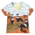 6 pçs/lote Tees de Verão Para Meninos de Manga Curta Cavalheiro Meninos Camisetas Básicas