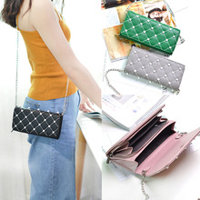 Forever Young Fashion Clutch Bag Women PU Leather Criss Cross Elegant Pink Shoul
