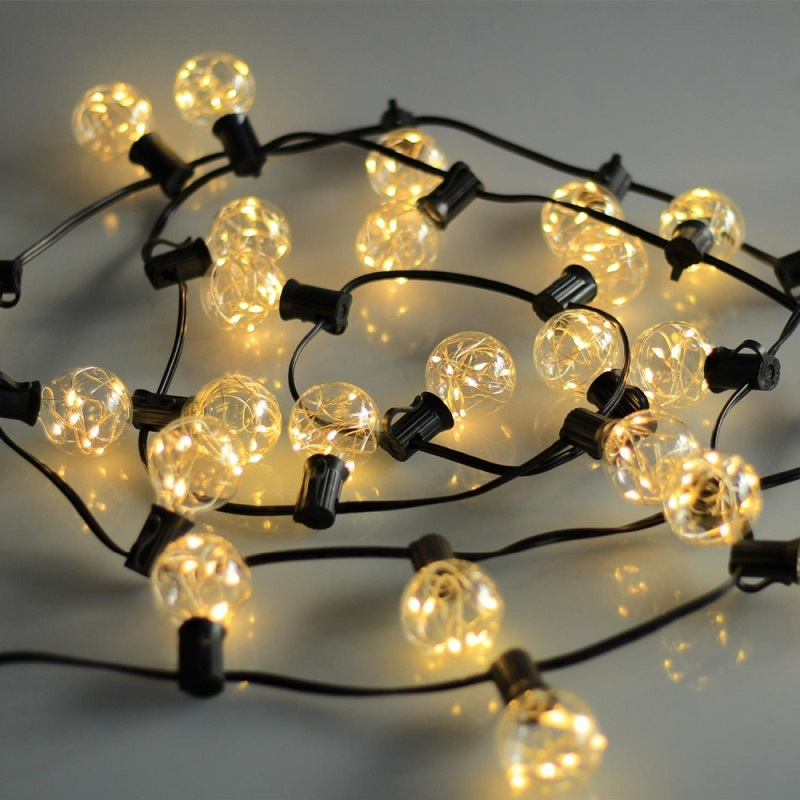 Globe String Lights Indoors : 5.5M 25Bulbs Garden Globe Led String Light Fairy Garlands Light For Indoor&Outdoor Decorative ...