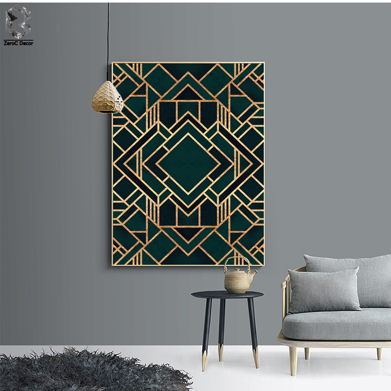 Classic Cube Geometric Canvas Painting Wall Art Posters And Prints Nordic Marble Wall Picture For Living Room Home Decor