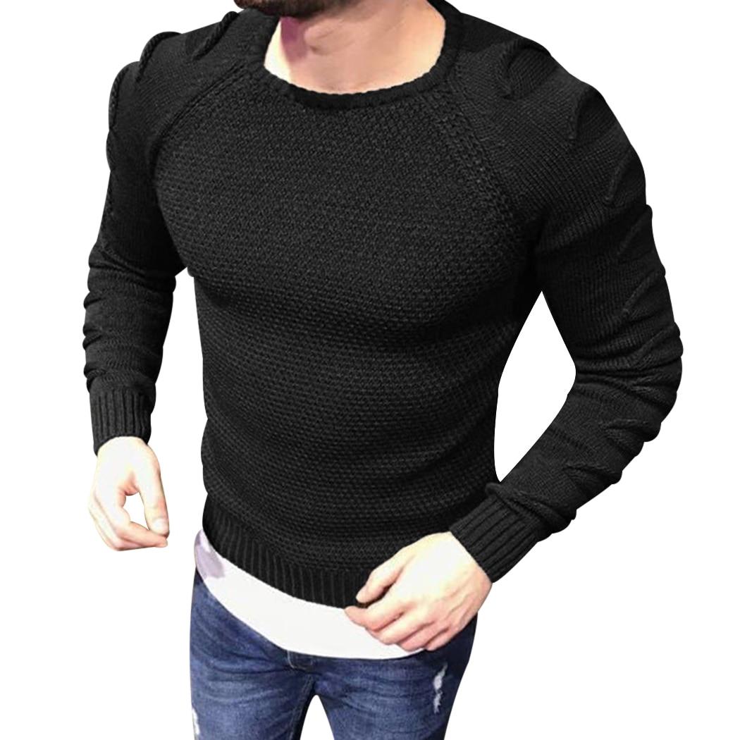 2018 Neue Herbst Winter Mode Herren Pullover Slim Fit Männer Pullover Trend Gestrickte Jacquard Armee Grün Pullover Männer M-xxl
