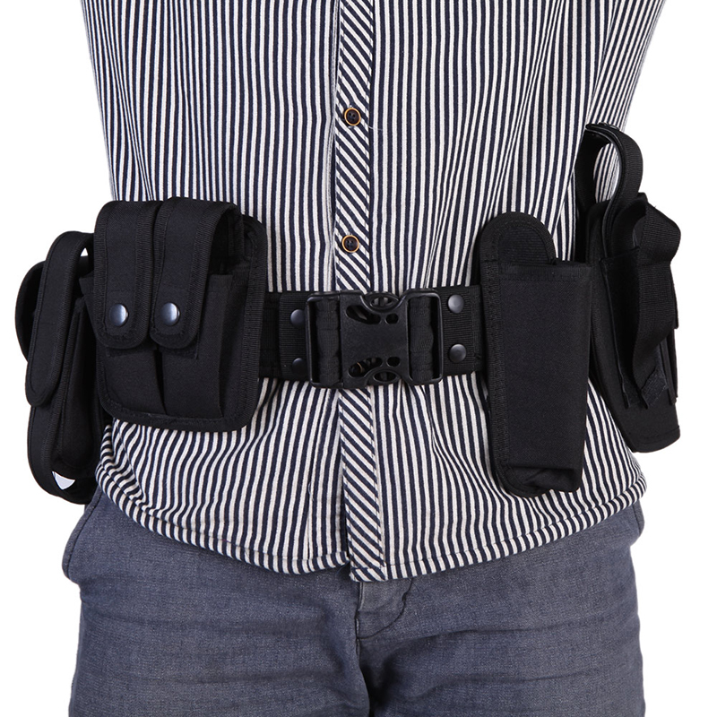 Outdoor Camping Tactical Hunting Belt Duty Utility Kit Belt with Pouches System Holster Training Security Guard Equipment