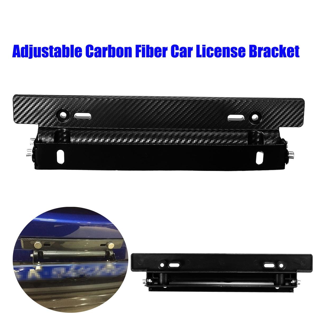 Hot Sale Universal Adjustable Carbon Fiber Car License Plate Frame ...