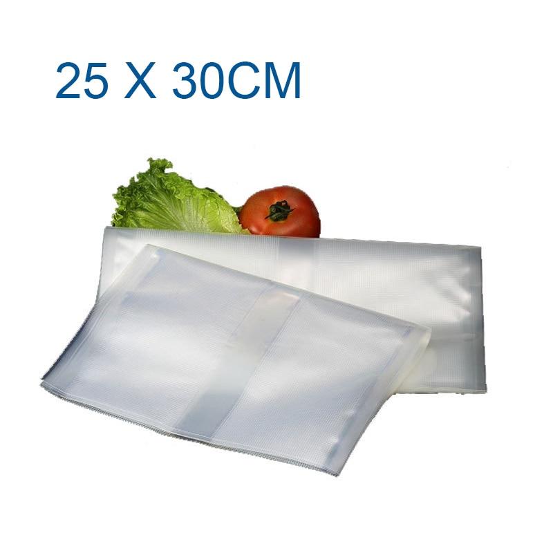 ФОТО Glantop 25*30cm vacuum bags for food Storage FOR Vacuum Sealer Saver packaging bags vacuum bag with 50PCS