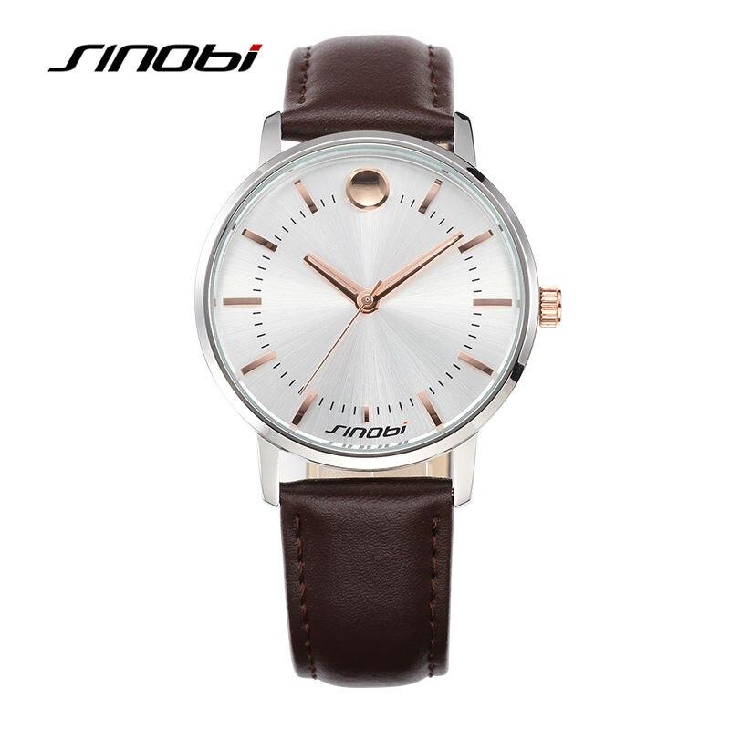 SINOBI Relojes de pulsera de los hombres Top Marca de Lujo de Cuero - Relojes para hombres