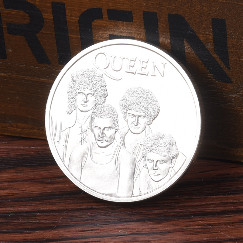 Collection-Toy Coin Freddie Mercury-Figure Band-Queen Rock Singer Silver-Plated Fans