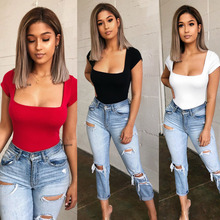 2019 Brand New Summer Ladies Women Sexy Short Sleeve Clubwear Playsuit Bodysuit Party Jumpsuit  Comfortable NEW