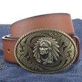 Indian Head hebilla PU correa de cuero grandes grandes cinturones de cuero hebilla cinturones de hombre nuevo estilo de moda 54798