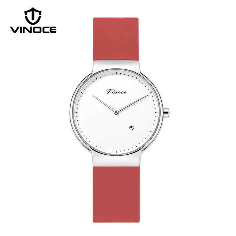 VINOCE 6MM Ultra Thin Women Watches Casual Fashion Silicone Sport Watches Ladies Luxury Quartz Watch 2018 Relogio Feminino велосипед khs ultra sport 1 0 ladies 2016