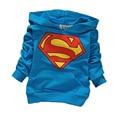 Новый весна осень мальчик новорожденный малыш детская одежда Свитер с длинным рукавом С Капюшоном футболка Алмаз печати top coat бесплатная доставка