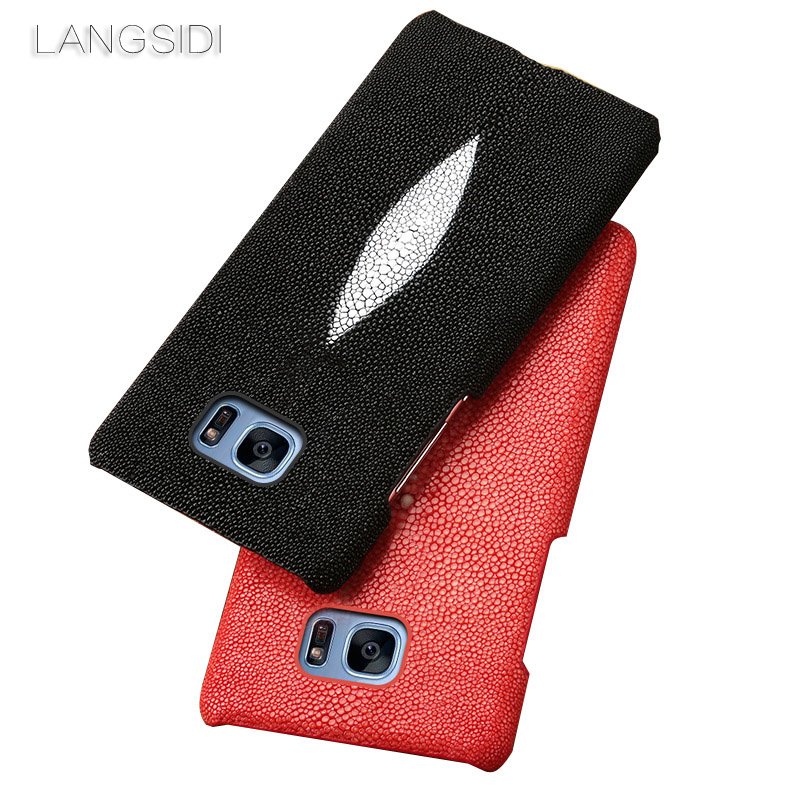 Wangcangli marque étui de téléphone portable perle poisson demi-paquet étui de téléphone portable pour Samsung S7 étui de téléphone portable traitement personnalisé